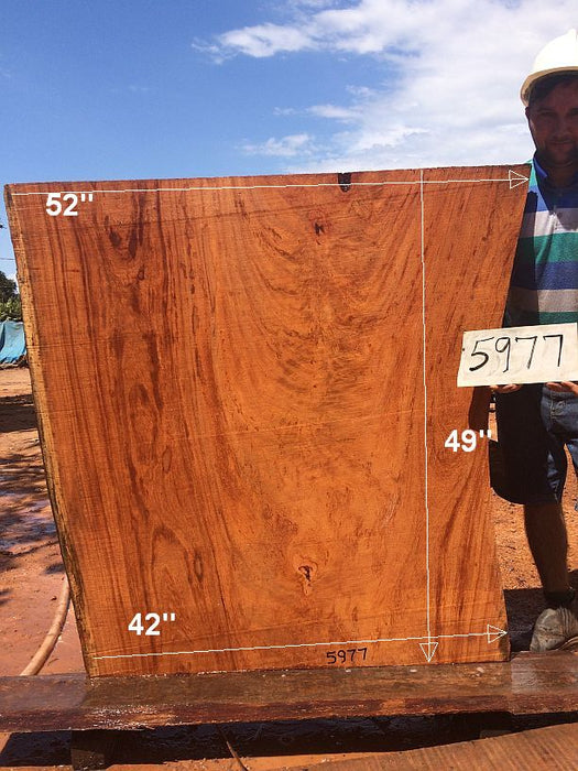 "Angelim Pedra #5977- 2-3/8"" x 42"" to 52"" x 49"" FREE SHIPPING within the Contiguous US. - Big Wood Slabs"