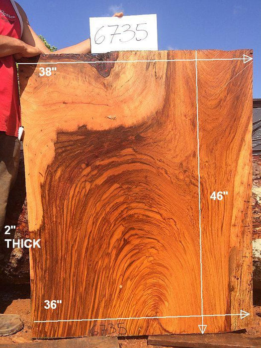 "Jatoba / Brazilian Cherry - 2"" x 36"" to 38"" x 46"" - Big Wood Slabs"