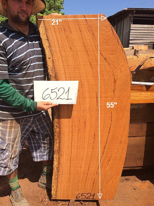 "Angelim Pedra #6521 - 2-1/2"" x 18"" to 21"" x 55"" FREE SHIPPING within the Contiguous US. - Big Wood Slabs"