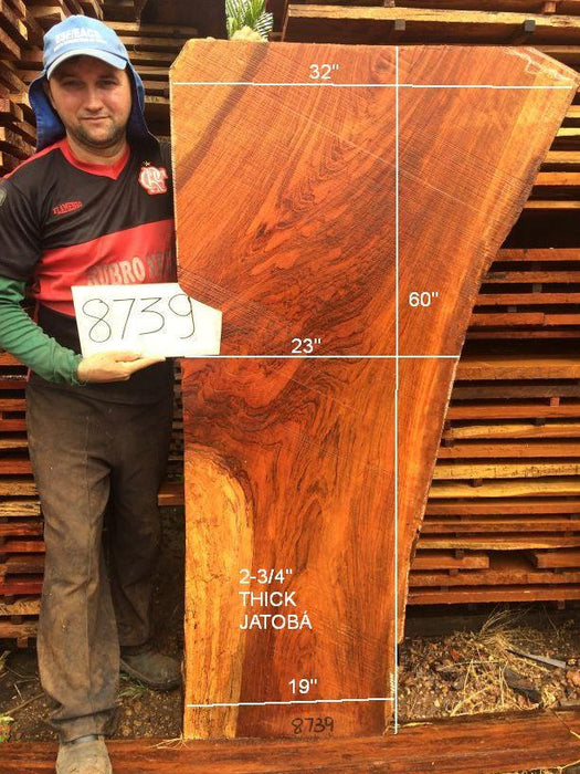 "Jatoba / Brazilian Cherry - 2-3/4"" x 19"" to 32"" x 60"" - Big Wood Slabs"