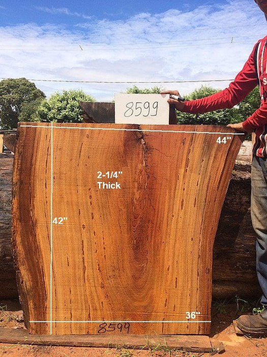 "Angelim Pedra #8599 - 2-1/4"" x 36"" to 44"" x 42"" FREE SHIPPING within the Contiguous US. - Big Wood Slabs"