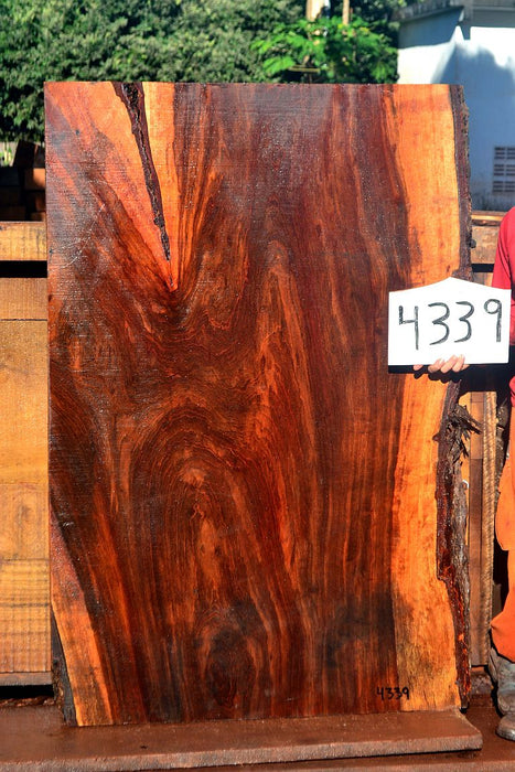 "Jatoba / Brazilian Cherry #4339 - 2-1/2"" x 40"" to 42"" x 63"" FREE SHIPPING within the Contiguous US. - Big Wood Slabs"