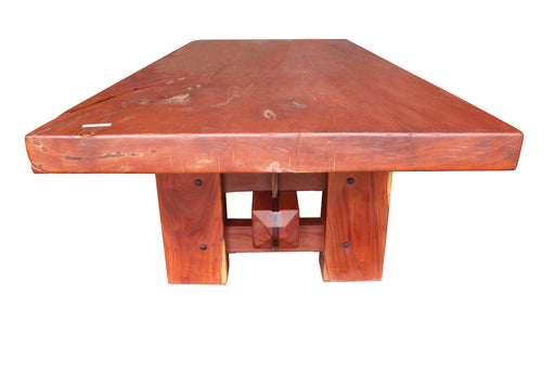 "Angelim Pedra Table w/ Cumaru base #3922 - 31-1/2"" x 50-3/4"" x 115-1/2"" FREE SHIPPING within the Contiguous US. - Big Wood Slabs"