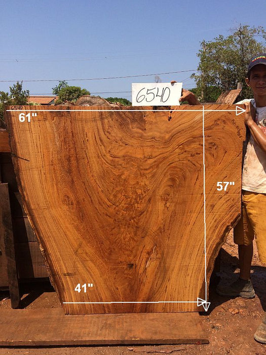 "Angelim Pedra #6540 - 2-1/2"" x 41"" to 61"" x 57"" FREE SHIPPING within the Contiguous US. - Big Wood Slabs"