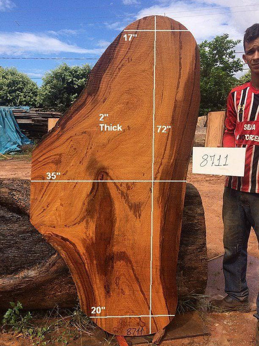 "Angelim Pedra #8711 - 2"" x 35"" x 72"" FREE SHIPPING within the Contiguous US. - Big Wood Slabs"