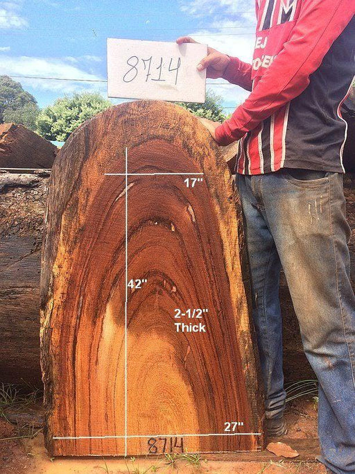 "Angelim Pedra #8714 - 2-1/2"" x 27"" x 42"" FREE SHIPPING within the Contiguous US. - Big Wood Slabs"