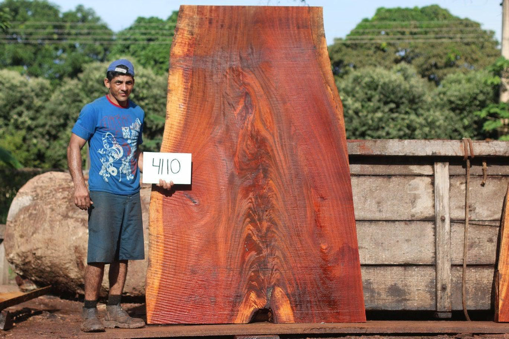 "Jatoba / Brazilian Cherry #4110 - 2-3/4"" x 37"" to 55"" x 81"" FREE SHIPPING within the Contiguous US. - Big Wood Slabs"