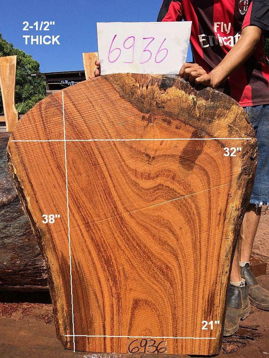 "Angelim Pedra - 2-1/2"" x 21"" to 32"" x 38"" - Big Wood Slabs"