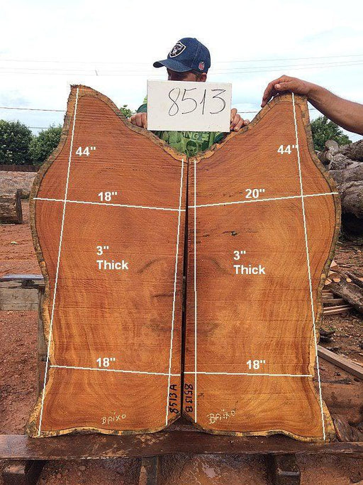 "Garapa - 3"" x 18"" to 20"" x 44"" - Big Wood Slabs"