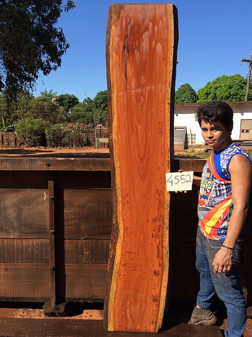 "Cumaru / Brazilian Teak - 2-5/8"" x 16"" to 18"" x 93"" - Big Wood Slabs"