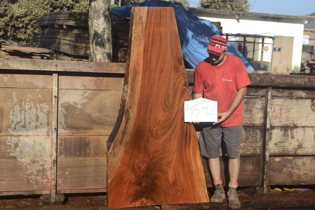 "Jatoba / Brazilian Cherry  #4542- 2-1/4"" x 15"" to 39"" x 71"" FREE SHIPPING within the Contiguous US. - Big Wood Slabs"
