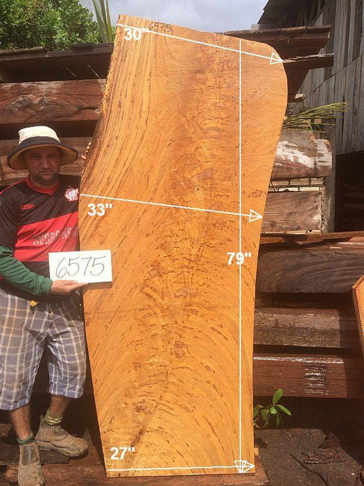 "Angelim Pedra #6575 - 2-1/2"" x 27"" to 33"" x 79"" FREE SHIPPING within the Contiguous US. - Big Wood Slabs"