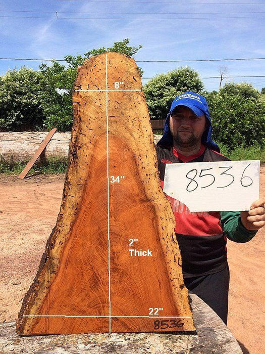 "Angelim Pedra #8536 - 2"" x 8"" to 22"" x 34"" - Big Wood Slabs"