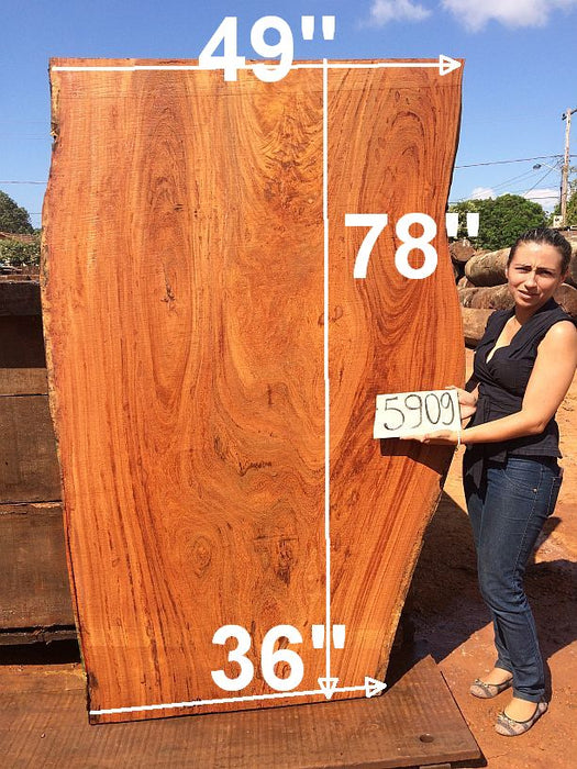 "Angelim Pedra #5909- 2-3/4"" x 36"" to 49"" x 78"" FREE SHIPPING within the Contiguous US. - Big Wood Slabs"