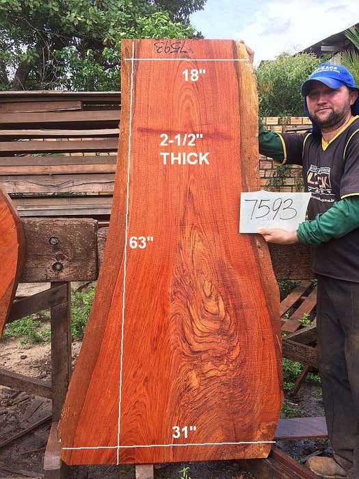 "Jatoba / Brazilian Cherry - 2-1/2"" x 18"" to 31"" x 63"" - Big Wood Slabs"