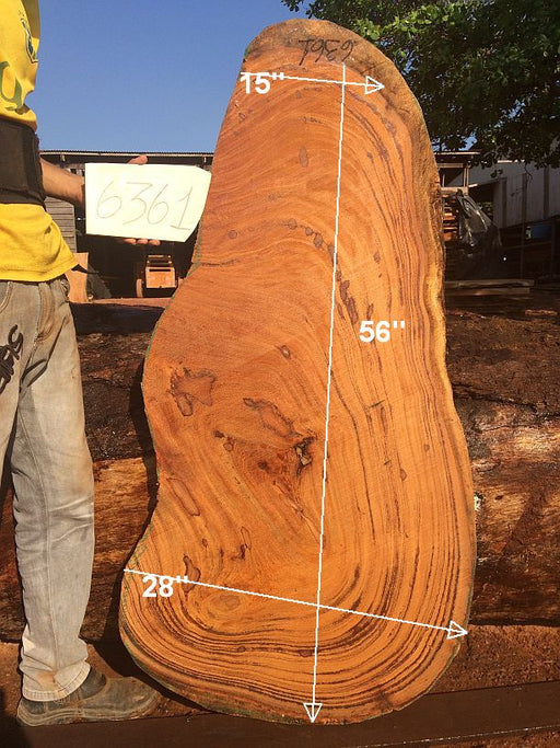 "Angelim Pedra #6361- 2-3/4"" x 15"" to 28"" x 56"" FREE SHIPPING within the Contiguous US. - Big Wood Slabs"