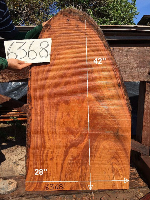 "Angelim Pedra #6368 - 2-1/2"" x 28"" x 42"" - Big Wood Slabs"