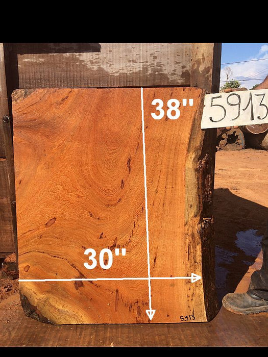 "Angelim Pedra #5913- 3-1/4"" x 30"" x 38"" FREE SHIPPING within the Contiguous US. - Big Wood Slabs"