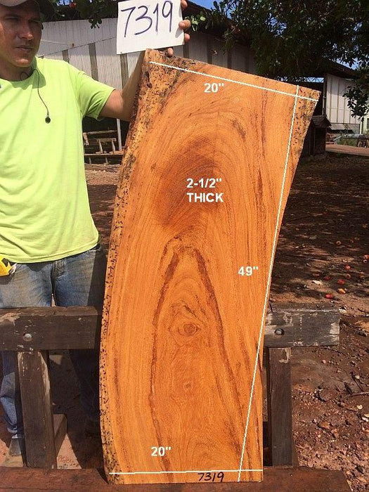 "Angelim Pedra #7319- 2-1/2"" x 20"" x 49"" FREE SHIPPING within the Contiguous US. - Big Wood Slabs"