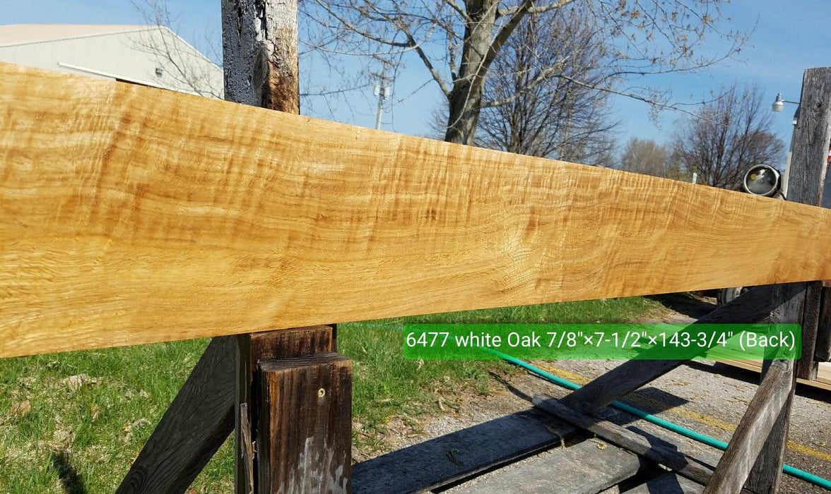 "Oak, White - Flame #6477 - 15/16"" x 7-1/2"" x 133"" FREE SHIPPING within the Contiguous US. - Big Wood Slabs"