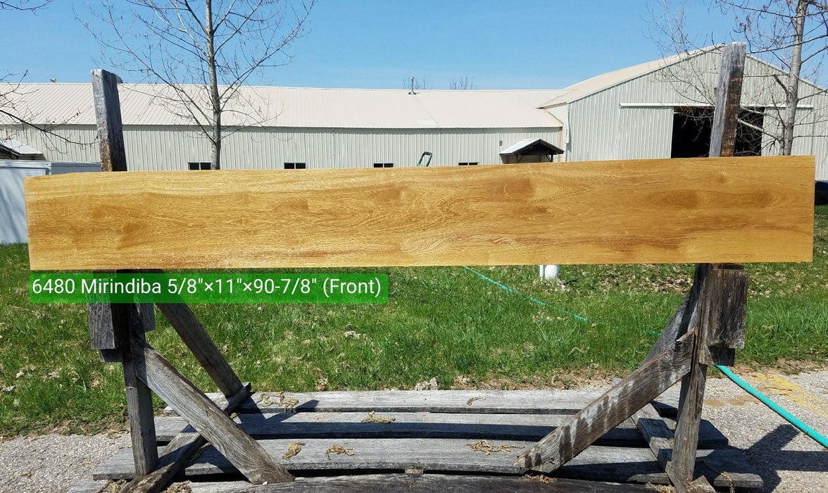 "Mirindiba #6480- 5/8"" x 11"" x 90-7/8"" FREE SHIPPING within the Contiguous US. - Big Wood Slabs"
