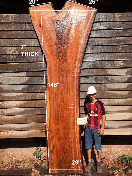 "Jatoba / Brazilian Cherry - 2"" x 29"" to 60"" x 148"" - Big Wood Slabs"