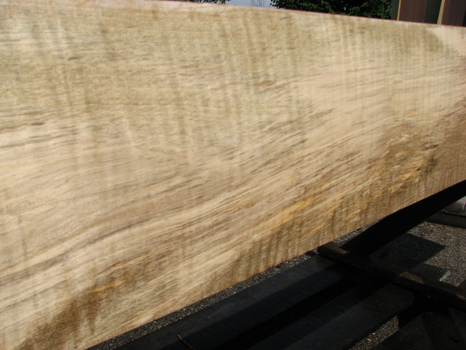 "Maple, Curly #6639(JW) - 2-1/8"" x 7-1/4"" to 9-3/8"" x 120"" FREE SHIPPING within the Contiguous US. - Big Wood Slabs"