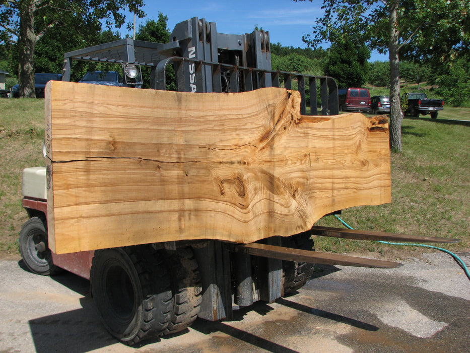 "Ash #6699(JS)- 3"" x 29-1/2"" to 41-1/2"" x 131"" - Big Wood Slabs"
