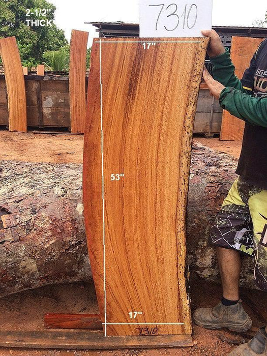 "Angelim Pedra #7310 - 2-1/2"" x 17"" x 53"" FREE SHIPPING within the Contiguous US. - Big Wood Slabs"