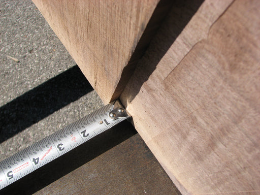 "Walnut, American - 2-1/8"" x 34-1/2"" to 53"" x 87"""