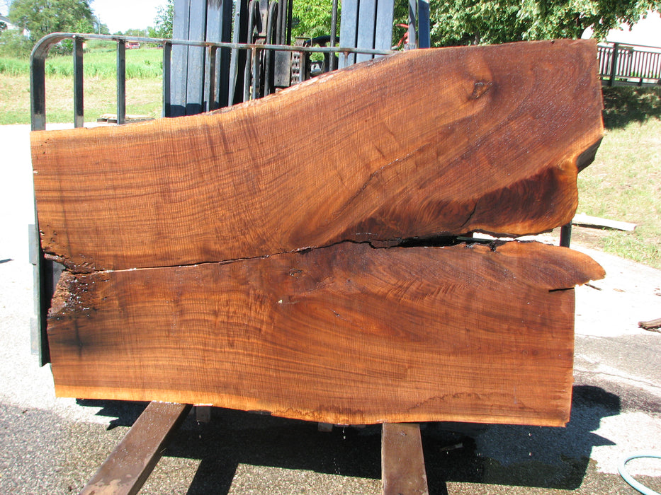 "Walnut, American #6804(JS) - 3"" x 34"" to 48"" x 68-1/2"" FREE SHIPPING within the Contiguous US. - Big Wood Slabs"