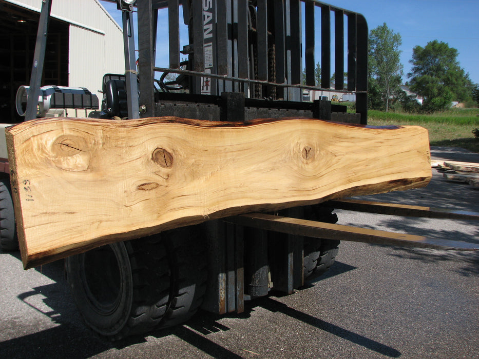 "Cottonwood #6811 - 2-1/4"" x 14"" to 17-3/4"" x 128"" FREE SHIPPING within the Contiguous US. - Big Wood Slabs"