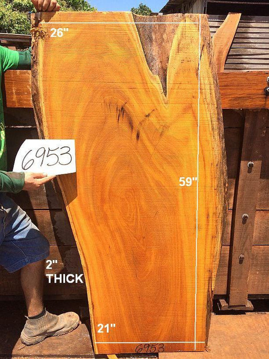 "Tatajuba #6953- 2"" x 21"" x 26"" x 59"" FREE SHIPPING within the Contiguous US. - Big Wood Slabs"