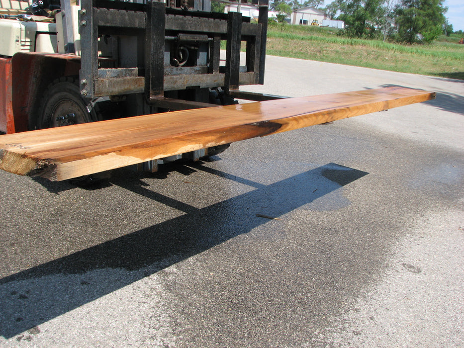 "Red Oak #6869 - 2-1/4"" x 14-1/2"" to 15-1/2"" x 115"" FREE SHIPPING within the Contiguous US. - Big Wood Slabs"