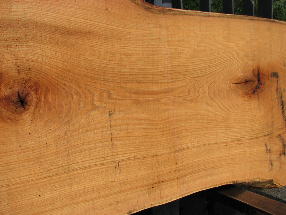 "Red Oak #6884(JS) - 3"" x 27-1/2"" to 34"" x 134"" FREE SHIPPING within the Contiguous US. - Big Wood Slabs"