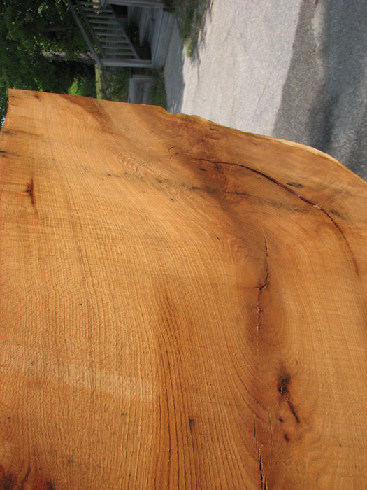 "Red Oak #6896(JS) - 3"" x 28-1/2"" to 35"" x 52"" FREE SHIPPING within the Contiguous US. - Big Wood Slabs"