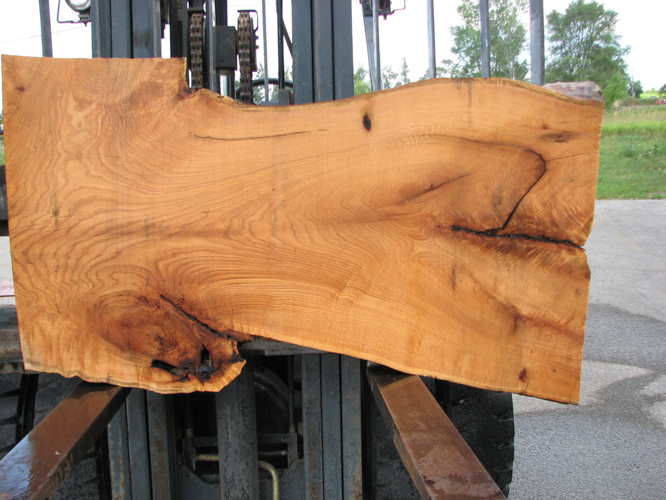 "Red Oak #6898(JS) - 3"" x 22-1/2"" to 34"" x 60"" FREE SHIPPING within the Contiguous US. - Big Wood Slabs"