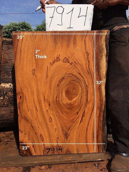 "Angelim Pedra #7914 - 2"" x 23"" x 32"" - Big Wood Slabs"