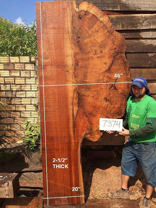 "Quaruba - 2 1/2"" x 20"" to 46"" x 101"" - Big Wood Slabs"
