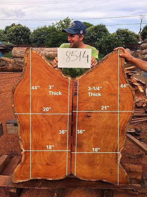 "Garapa - 3-1/4"" x 18"" to 21"" x 44"" - Big Wood Slabs"