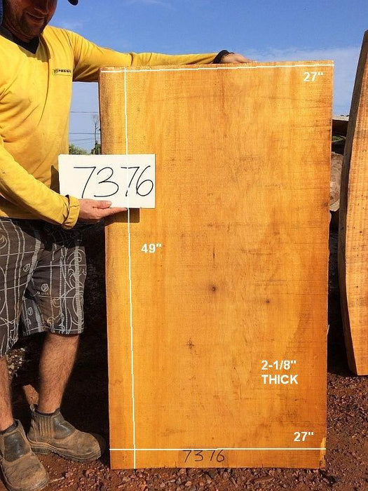 "Satinwood-Pau Amarelo #7376- 2 1/8"" x 27"" x 49"" FREE SHIPPING within the Contiguous US. - Big Wood Slabs"