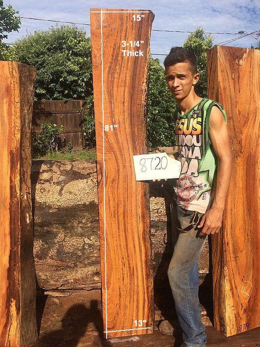 "Angelim Pedra - 3-1/4"" x 13"" to 15"" x 81"" - Big Wood Slabs"
