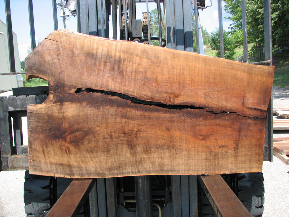 "Walnut, American #7005 (JS) - 2-1/2"" x 25-1/2"" to 36-3/4"" x 57"" FREE SHIPPING within the Contiguous US. - Big Wood Slabs"