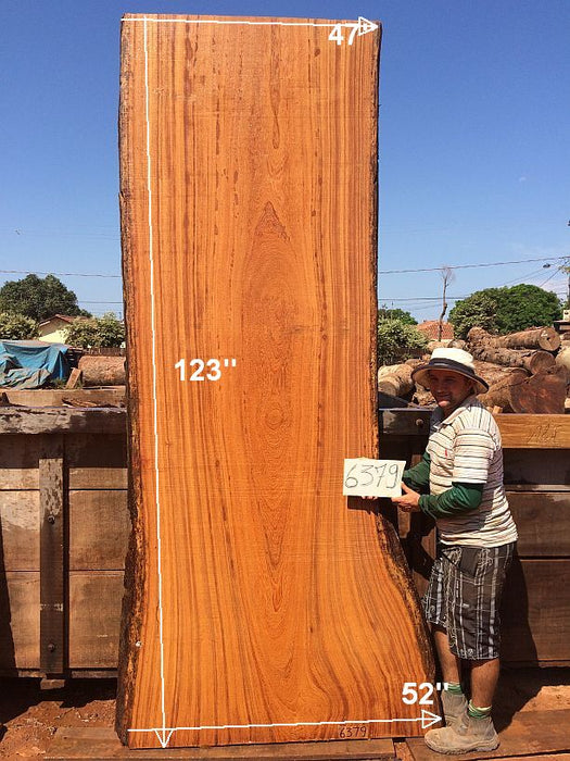 "Angelim Pedra - 2-3/4"" x 47"" to 52"" x 123"" - Big Wood Slabs"