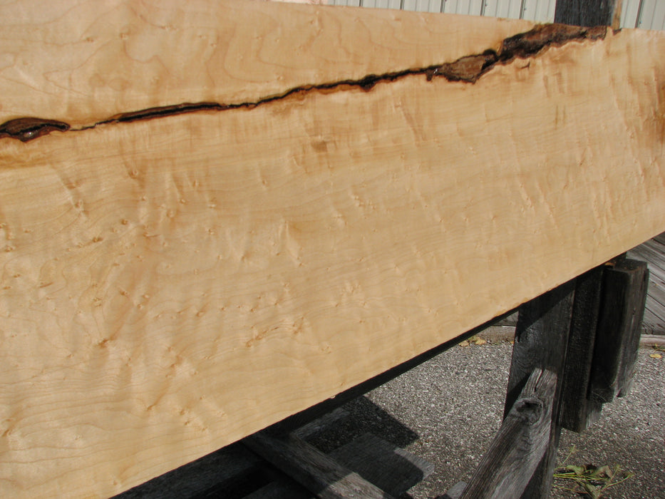 "Maple, Birds Eye #7086(JW) - 1-1/4"" x 12-1/4"" x 96"" FREE SHIPPING within the Contiguous US. - Big Wood Slabs"