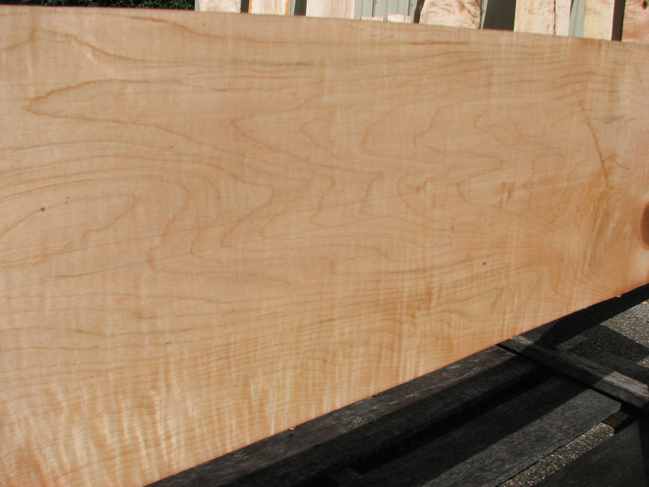 "Maple, Curly #7089(JW) - 1-5/16"" x 11"" x 100"" FREE SHIPPING within the Contiguous US. - Big Wood Slabs"