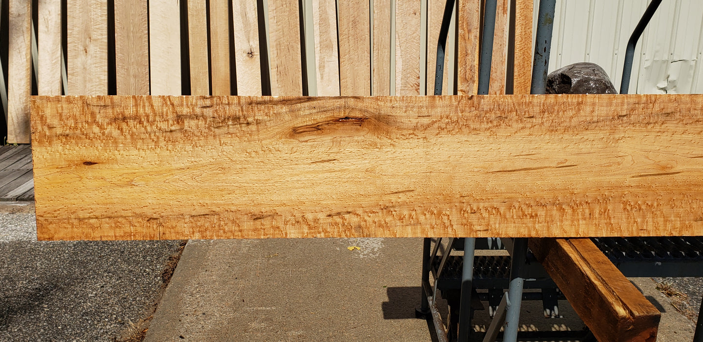 "Maple, Birds Eye - Natural #7236(OC) - 15/16"" x 9-1/2"" x 96"" FREE SHIPPING within the Contiguous US. - Big Wood Slabs"
