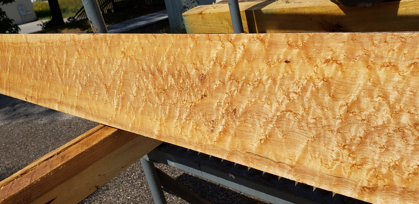 "Maple, Birds Eye - Natural #7240(OC) - 7/8"" x 6-1/4"" x 96"" FREE SHIPPING within the Contiguous US. - Big Wood Slabs"