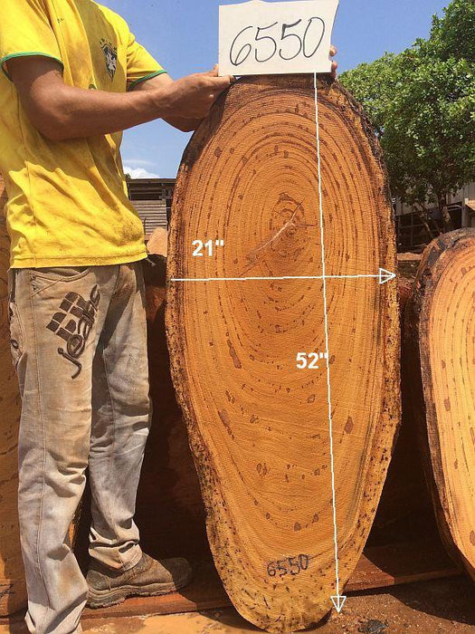 "Angelim Pedra #6550 - 2"" x 21"" x 52"" FREE SHIPPING within the Contiguous US. - Big Wood Slabs"