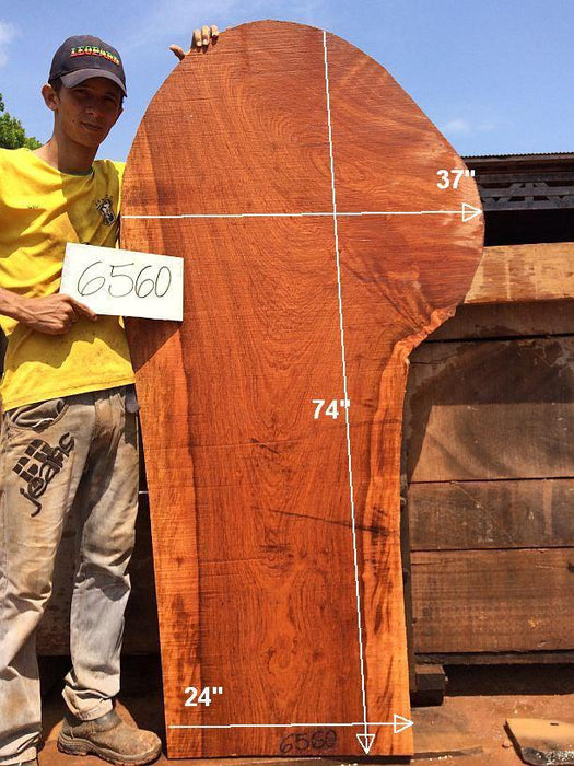 "Jatoba / Brazilian Cherry - 3"" x 24"" to 37"" x 74"" - Big Wood Slabs"